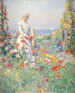 Celia Thaxter in her Garden by Childe Hassam