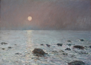 Moonrise Isles of Shoals by Childe Hassam