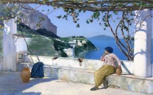 View of Bagni di Tiberio, Capri, by Charles C Colman