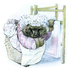 Mrs Tiggy Winkle, created by Beatrix Potter (as I should have guessed)