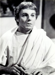 Derek Jacobi as Claudius. THe series caused a sensation on this side of the Atlantic and vaulted this brilliant actor to instant stardom.