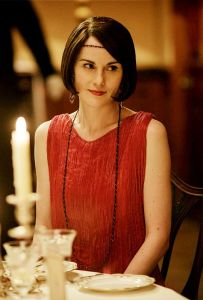 Lady Mary of Downton Abbey in a Fortuny gown
