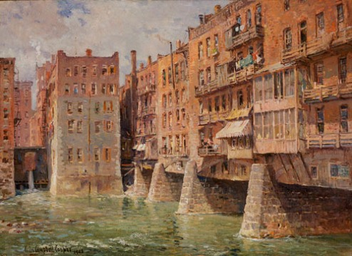 Main Street Bridge, Rocheter by Colin Campbell Cooper. My husband, a born and bred Rochesterian, really likes this one!