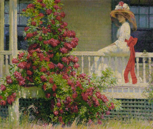 "Philip Leslie Hale's unforgettable Crimson Rambler. ""If this was the only painting he'd done, we'd still include Boston Impressionist Philip Leslie Hale on our list."""