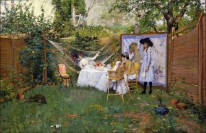 Open Air Breakfast, by William Merritt Chase
