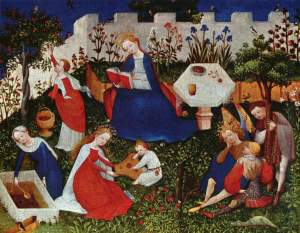 Little Garden of Paradise, by the Upper Rhenish Master 1410-1420