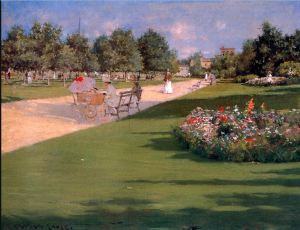 Tompkins Park, Brooklyn, by William Merritt Chase