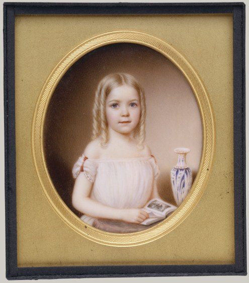 Kate Roselie Dodge by John Wood Dodge (the artist's daughter), ca 1854