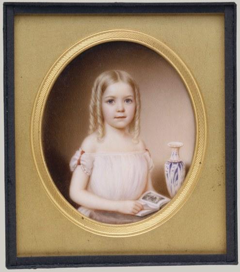Kate Roselie Dodge by John Wood Dodge (the artist's daughter), ca 1854