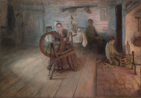 Spinning by Firelight, 1894