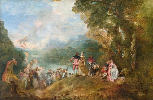L'Embarquemtn pour Cythere (Embarkation for Cythera) by Jean-Antoine Watteau, 1717