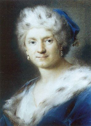 Self-Portrait as Winter by Rosalba Carriera 1731