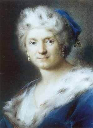 Self-Portrait as Winter by Rosalba Carriera 1731