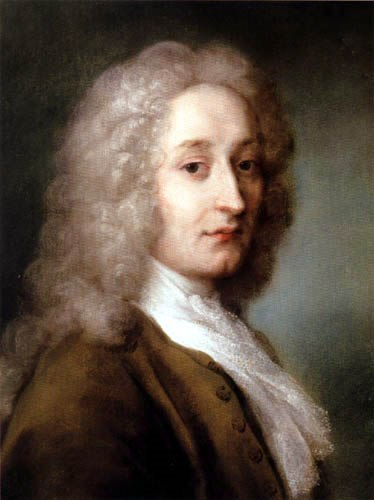Antoine Watteau [1684-1721] by Rosalba Carriera 1721. One of my favorite painters, looking so melancholy and no wonder; his life, so brief yet full of brilliance.