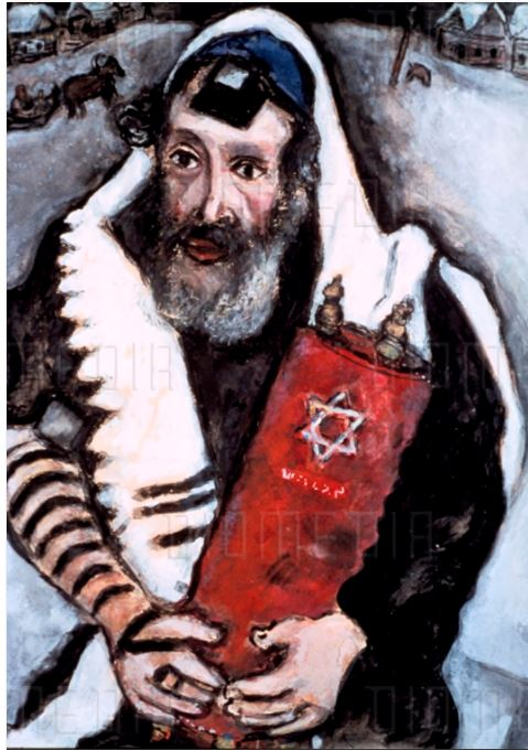 Rabbi with a Torah, Marc Chagall
