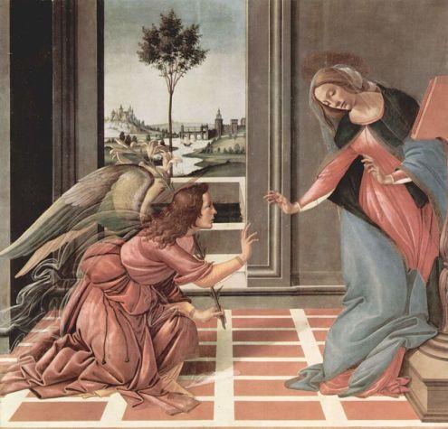 Annunciation, Sandro Botticelli
