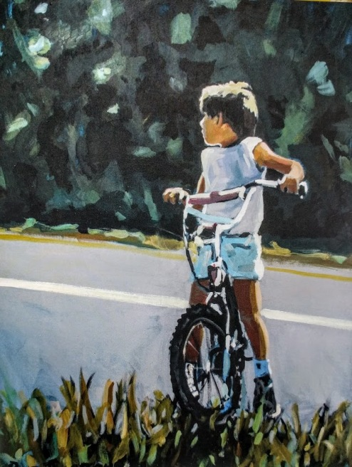 "Boy on a Bike by Charles ""Bud"" Gibbons"