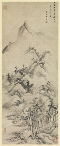 Clearing after Rain over Streams and Mountains by Wang Hui, 1662